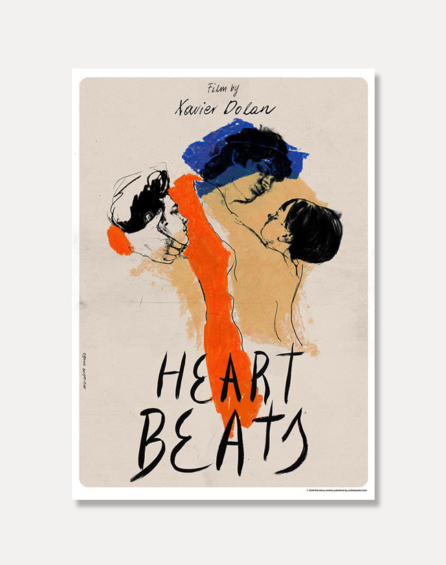 [Film Poster] Heartbeats 2018 (액자포함)70 x 100 cm