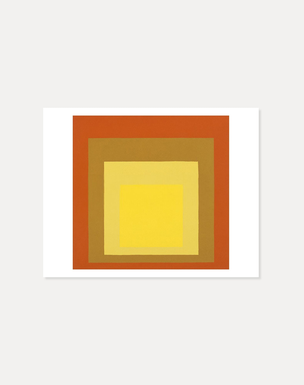 [죠세프 알베르스] Josef Albers —  Study for Homage to the Square:Orange &Yellow 35.5 x 28 cm