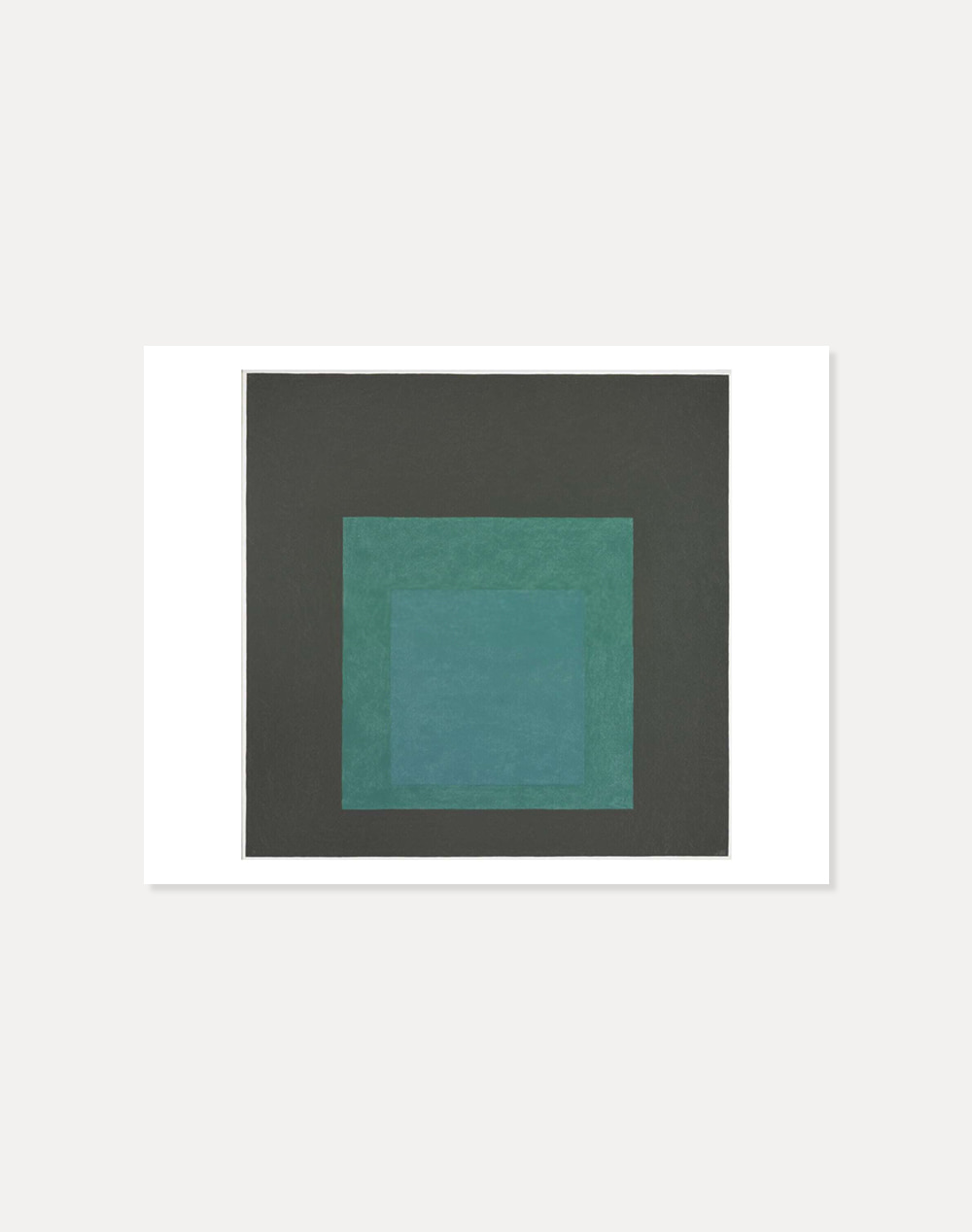 [죠세프 알베르스] Josef Albers —  Study for Homage to the Square: Dark Gray 40.5 x 51 cm