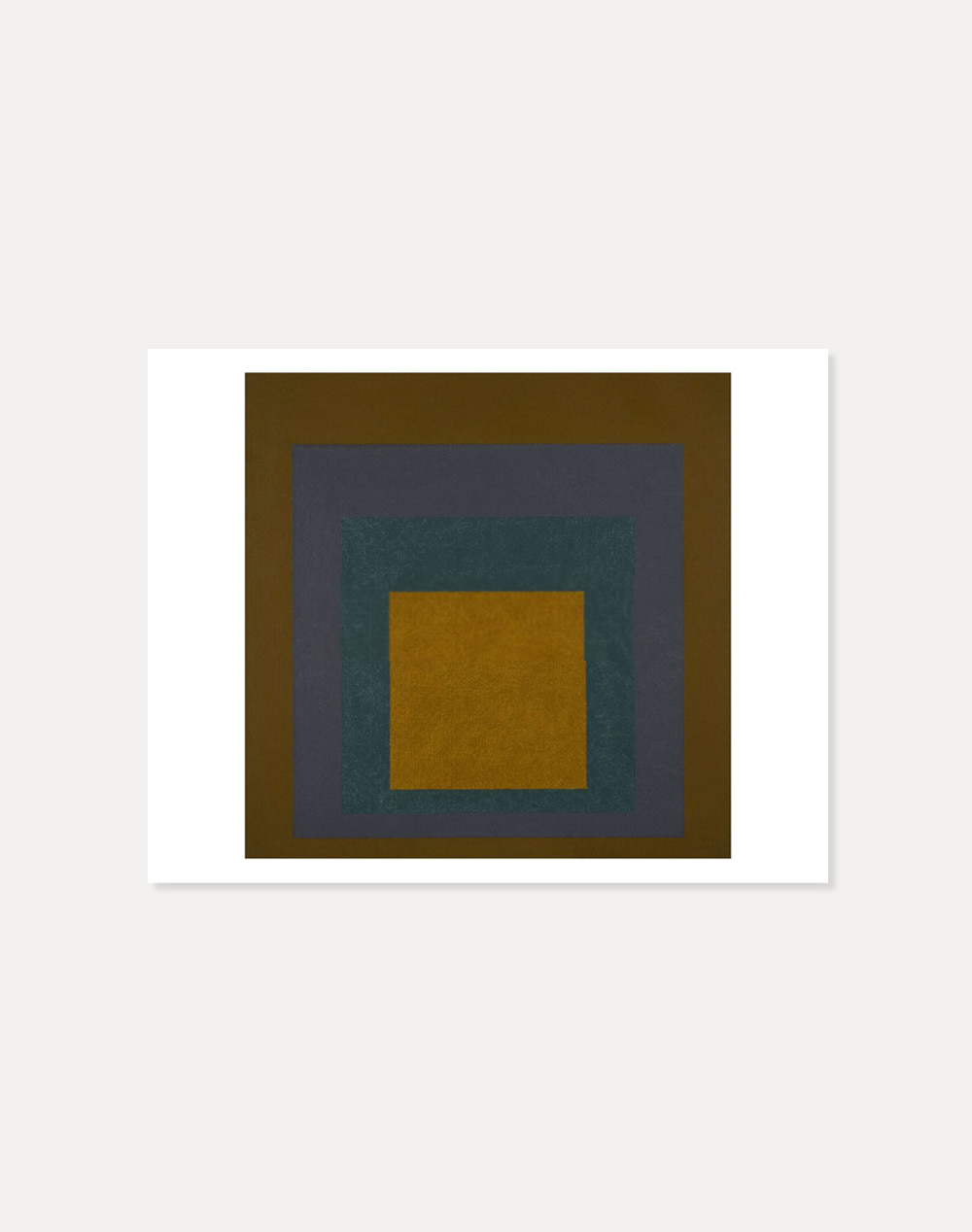 [죠세프 알베르스] Josef Albers —  Study for Homage to the Square:Brown&Dark Green 40.5 x 51 cm
